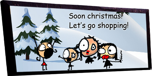 Soon christmas! Let's go shopping!